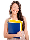 Happy female student Stock Photo