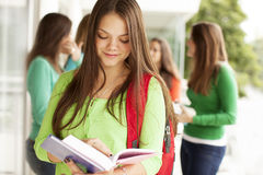 Happy female student Royalty Free Stock Photography