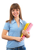 Happy female student smiling Royalty Free Stock Image