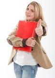Happy female student Stock Photography