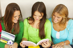 Happy female students Royalty Free Stock Photo