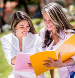Happy female students Royalty Free Stock Photography