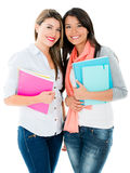 Happy female students Stock Photos