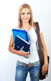Happy female teen student portrait Stock Photos
