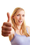 Happy female winner Stock Image