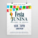 Happy festa junina poster design invitation background Stock Images