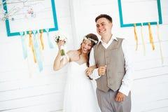 Happy Festive Wedding Couple Royalty Free Stock Images