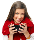 Happy festive woman Stock Image
