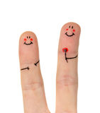 Happy finger Stock Photography