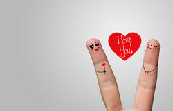 Happy finger hug Royalty Free Stock Images