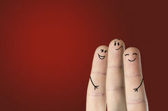 Happy fingers Stock Photography