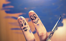 Happy fingers Royalty Free Stock Image