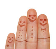 Happy fingers Royalty Free Stock Photo