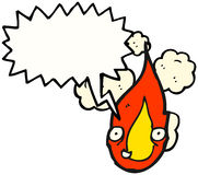 Happy Fire Cartoon Character. Hand drawn  cartoon of a fire cartoon character Royalty Free Stock Images