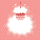 Happy First Birthday. Greeting card royalty free illustration
