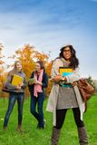 Happy first day in college Royalty Free Stock Image