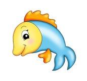 Happy fish stock image