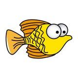 Happy fish cartoon icon. Illustration design Stock Photo