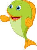 Happy fish cartoon Stock Photos