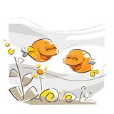 Happy Fish Laughing royalty free stock images