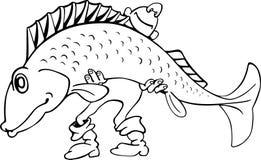 Happy fisherman presents big fish Royalty Free Stock Image