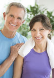 Happy Fit Couple Standing Together Stock Photography