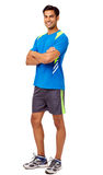 Happy Fit Man Standing Arms Crossed Royalty Free Stock Photography