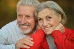 Happy fit senior couple Stock Image