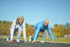 Happy fit senior couple Stock Photography
