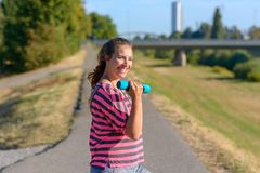 Happy fit young woman full of vitality royalty free stock photography