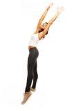 Happy fitness dancing. Stock Photos