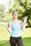 Happy fitness girl Stock Photos