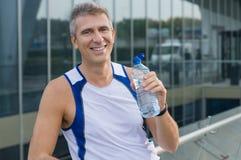Happy Fitness Man Outdoor Royalty Free Stock Photos