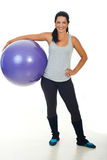 Happy fitness trainer woman Stock Photography