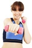Happy Fitness Woman stock image