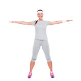 Happy fitness woman Royalty Free Stock Photos