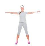 Happy fitness woman Royalty Free Stock Photos