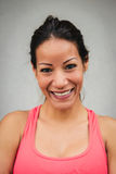 Happy fitness woman face portrait Stock Image