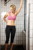 Happy Fitness Woman in Gym Royalty Free Stock Images