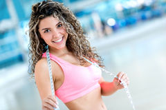 Happy fitness woman Royalty Free Stock Photo