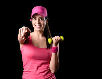 Happy fitness girl working out Royalty Free Stock Photo