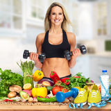 Happy fitness woman. royalty free stock photo