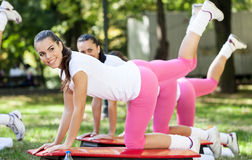Happy fitness women Stock Photography