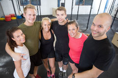 Happy fitness workout team at the gym Royalty Free Stock Photo