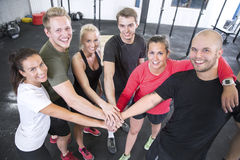 Happy fitness workout team Stock Photography