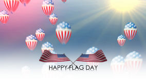 Happy Flag day, Flag of the United States waving Royalty Free Stock Images