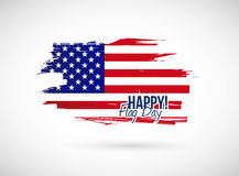 Happy flag day illustration design Royalty Free Stock Photo