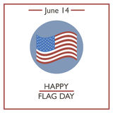 Happy Flag Day, June 14. Vector illustration for you design, card, banner, poster and calendar Stock Photos