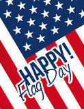 Happy flag day sign and flag illustration Stock Photography