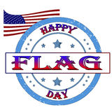 Happy flag day. Stamp, label vector illustration Royalty Free Stock Images